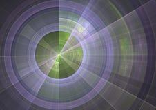 Sonar. Detail view of sonar screen in fractal form stock illustration
