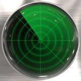 Sonar display Royalty Free Stock Images