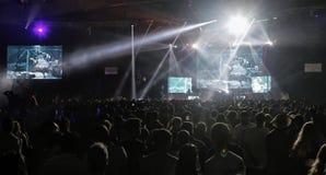 Sonar night 012. Festivalgoers enjoy the second night of the Sonar night advanced music festival held in Barcelona stock photos