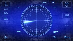 Sonar Screen For Submarines And Ships. Radar Sonar With Object On Map Royalty Free Stock Photos