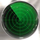 Sonarbildschirmanzeige Lizenzfreie Stockbilder