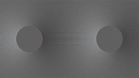 Sonarwellenreflexions-Konzepthintergrund Stockbilder