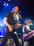 Sonata Arctica band perform on Budapest. BUDAPEST-November 18: Sonata Arctica band perform on stage at PeCsa November Royalty Free Stock Image