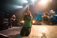 Sonata Arctica band perform on Budapest Royalty Free Stock Images