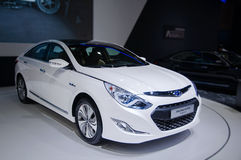 A sonata car of Hybrid. Take on the 16th Chongqing International Motor Show, June 6th-12th, 2014. There are many international famous brand companies and Stock Images