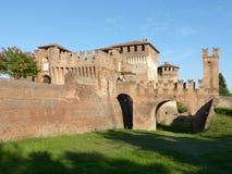 Soncino średniowieczny kasztel Cremona, Włochy - Fotografia Stock