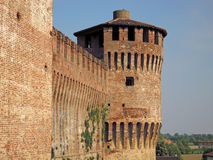 Soncino Castle. Near the town of Crema, Lombardia, Italia Stock Photos
