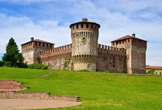 Soncino castle. In Lombardy, Italy Stock Photos