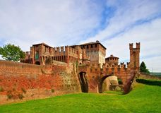 Soncino castle. In Lombardy, Italy Royalty Free Stock Photo