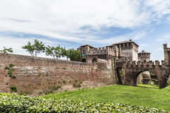 The Soncino Castle. Shoot of the Soncino Castle during daylight Stock Photography