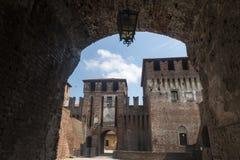 Soncino (Cremona, Italien) Stockbild