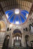Soncino (Cremona, Italy). Soncino (Cremona, Lombardy, Italy): interior of the medieval church of Santa Maria Assunta (12th century Royalty Free Stock Photos