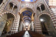 Soncino (Cremona, Italy). Soncino (Cremona, Lombardy, Italy): interior of the medieval church of Santa Maria Assunta (12th century Stock Photos
