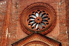 Soncino, Itália Detalhe da torre cívica Foto de Stock Royalty Free