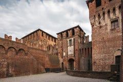 Soncino kasztel wejście zdjęcia royalty free