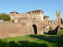 Soncino medieval castle - Cremona - Italy. View of the medieval castle of Soncino in the province of Cremona - Italy Royalty Free Stock Images