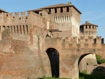Soncino medieval castle - Cremona - Italy. View of the medieval castle of Soncino in the province of Cremona - Italy Royalty Free Stock Photos
