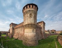 Soncino Castle a full view. Soncino medieval castle a full view of this intact ancient building stock photography