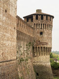 Soncino medieval castle view in Italy. Soncino medieval castle tower view in Italy, Cremona Stock Photography
