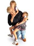 Sondöttrar och farmor Fotografering för Bildbyråer