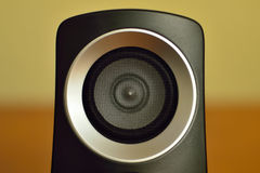 Sond circle. A close up of a sound woofer Royalty Free Stock Photography
