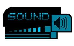 Sond style. Creative design of sound style Royalty Free Stock Photos