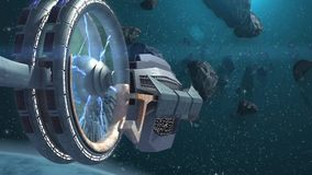 sonda spaziale 3D stock footage