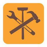 Sondando o ícone do símbolo do trabalho Fotografia de Stock