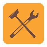 Sondando o ícone do símbolo do trabalho Fotos de Stock Royalty Free