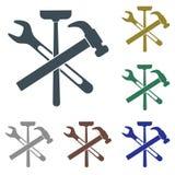 Sondando o ícone do símbolo do trabalho Fotos de Stock