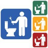 Sondando o ícone do símbolo do trabalho Imagem de Stock Royalty Free