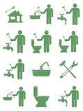 Sondando os ícones do símbolo do trabalho ajustados Fotografia de Stock Royalty Free