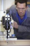 Sonde de contact d'ouvrier et de multicapteur Images stock