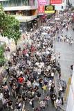 Sonde dissidente de la mort de demande de protestataires dans H.K. Images libres de droits