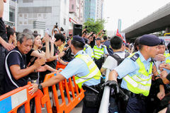 Sonde dissidente de la mort de demande de protestataires dans H.K. Image stock