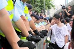 Sonde dissidente de la mort de demande de protestataires dans H.K. Photographie stock libre de droits