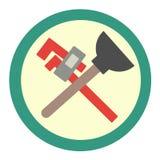 Sondear el icono de las herramientas Gr?ficos de vector en estilo plano ilustración del vector
