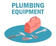 Sondear la caja de herramientas del equipo con el equipo de herramientas stock de ilustración