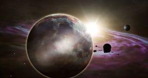 Sondeerballon exoplanet exploratie royalty-vrije illustratie