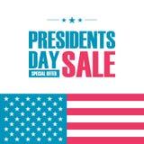 Sonderangebotfahne Präsidenten Day Sale für Geschäft, Förderung und Werbung Stockbild