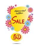 Sonderangebotplakat des Verkaufs-Frühlinges Stockbild