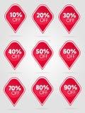 Sonderangebotverkaufsaufklebersammlung Lizenzfreies Stockfoto