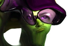 Sonderbar, merkwürdig u. Odd Green Man stock footage