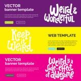 Sonderbar und schön Kalligraphieinspirationsgrafikdesign-Typografieelement lizenzfreie abbildung