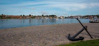Sonderborg, Danemark le port est de Sonderborg image libre de droits