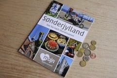SONDERJYLLAND CATALOGUE IN GERMANY LANGUAGE. Copenhagen_Denmark _05.May 2017_Sonderjylland catalogue in German langauge for German tourist to visit Sonderjyland Stock Photography