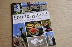 SONDERJYLLAND CATALOGUE IN GERMANY LANGUAGE. Copenhagen_Denmark _05.May 2017_Sonderjylland catalogue in German langauge for German tourist to visit Sonderjyland Royalty Free Stock Photography