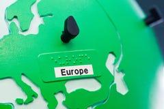 Sonderkommando der Bildungskugel für childs mit Blindenschrift-Schreiben Europ Stockfotos