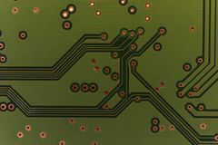 Sonderkommando der elektrischen Leiterplatte einer Festplatte des Computers Lizenzfreies Stockfoto