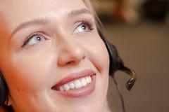 Sonderkommando des Call-Center-Mittels bei der Arbeit Lizenzfreies Stockfoto